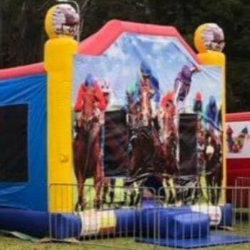 Mega Jumps - Horse Racing Jumping Castle