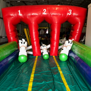 Inflatable Pony Racing with Track including supervision
