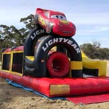 Cars Obstacle & Slide Jumping Castle including supervision