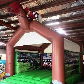Horse Racing Jumping Castle